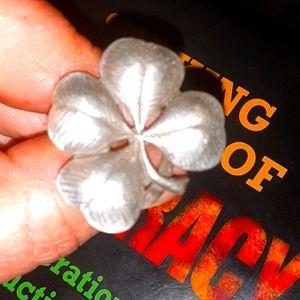 Antique Shamrock silver ring
